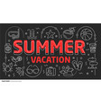 lines template summer vacation vector image