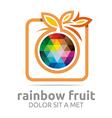 rainbow fruit orange food nutrition symbol vector image