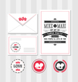 Invitation set vector image vector image
