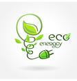 eco energy leaf alternative power vector image