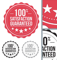 red satisfaction guaranteed seal stamp design vector image vector image