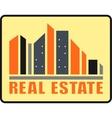 real estate urban icon vector image