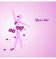 Beautiful background with tender ballerina in vector image vector image