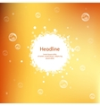 Honey colors juicy background for presentation vector image