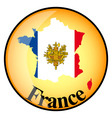 button France vector image