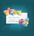 christmas balls with clean white banner for your vector image