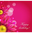 Pink Background With Gerbers vector image