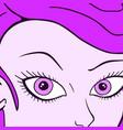 purple woman vector image