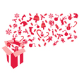red christmas gift vector image