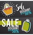 Sale and special offer Black-and-white background vector image