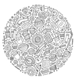 Set of Cafe cartoon doodle objects vector image
