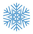 snowflake symbol for christmas on white background vector image