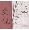 Yoga for pregnant woman Background vector image