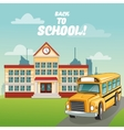 bus building back to school design vector image