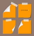 Collection of various papers vector image
