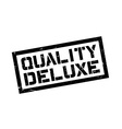 Quality Deluxe rubber stamp vector image