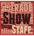 Increase Sales At Your Trade Show Booth text vector image