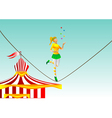 circus girl on a rope vector image vector image