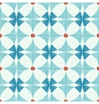 Geometric blue red ikat seamless pattern vector image vector image