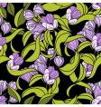 seamless wallpaper with violet flowers vector image