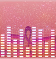 colorful luminous music background vector image