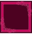 Crimson decorative ornate frame vector image
