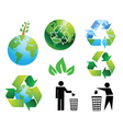 Eco environment vector image