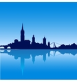Dublin city skyline silhouette vector image