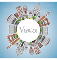 Venice Skyline Silhouette vector image