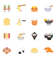 Color icon set - Eastern food vector image