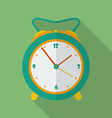 Classic alarm clock icon Modern Flat style with a vector image