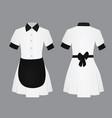 maid uniform vector image