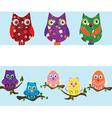 owl set vector image