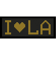 yellow button board words i love LA vector image
