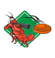 Crayfish Lobster Target Skeet Shooting vector image