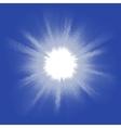 Blue halftone blast EPS 8 vector image vector image