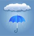 rain dark clouds with umbrella vector image