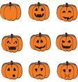 A set of pumpkins vector image