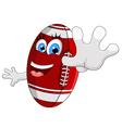 Cartoon American football survive vector image