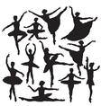 ballet silhouette vector image