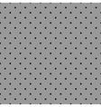 Tile pattern with black polka dots grey background vector image vector image