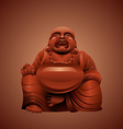 laughing buddha vector image vector image
