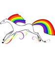 horse with a rainbow mane vector image