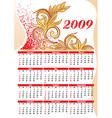 2009 Floral Calendar vector image