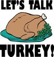 Talk Turkey vector image