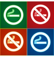 No smoking area labels vector image vector image