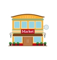 Market flat style icon isolated on white vector image
