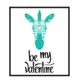 Be my Valentine Valentines day template vector image