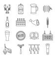 Beer icons set outline style vector image