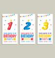 Birhday invitation card design vector image